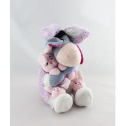 Doudou Bourriquet déguisé en lapin mauve Collection Disney