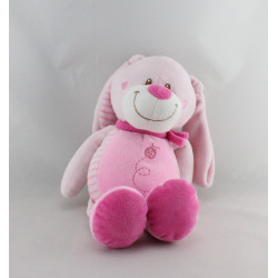 Doudou lapin rose coccinnelle NICOTOY