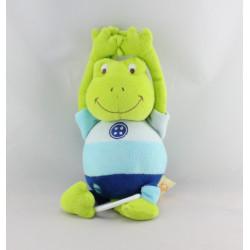 Doudou musical grenouille verte bleu BABY NAT