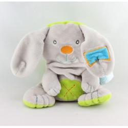 Doudou lapin gris vert bleu BABY NAT