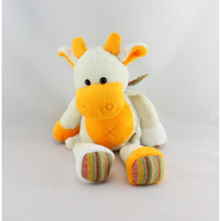 Doudou vache blanche orange BABY NAT