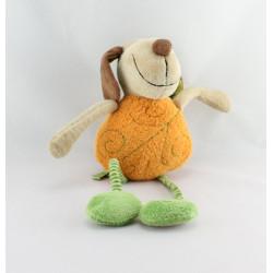 Doudou musical chien orange rayé vert SIGIKID