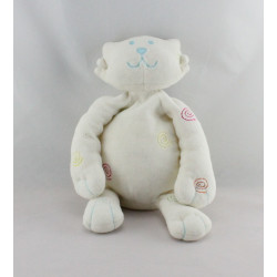 Doudou chat lion blanc spirales KIABI BEBE