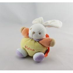 Mini doudou lapin jaune orange bleu violet KALOO