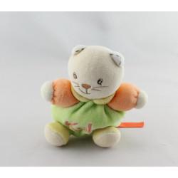 Mini Doudou chat vert orange jaune KALOO