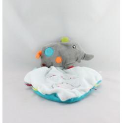 Doudou plat éléphant gris bleu Mon Doudou NICOTOY