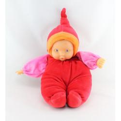Doudou bébé poupée Baby Pouce rouge rose COROLLE