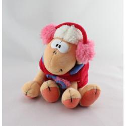 Doudou mouton Vanillivi manteau rouge casque DIDDL