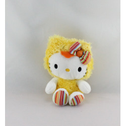 Doudou chat HELLO KITTY poussin jaune