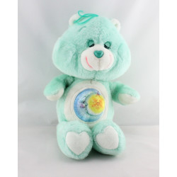 Ancienne Peluche Bisounours bleu Grosdodo lune CARE BEARS 1983