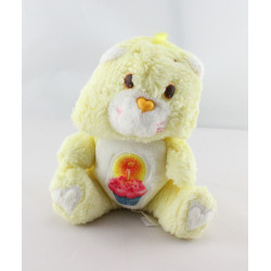Ancienne Peluche Bisounours jaune Grosgâteau CARE BEARS