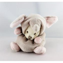 Doudou ours déguisé en éléphant BUKOWSKI