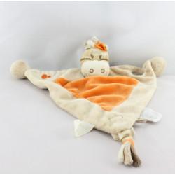 Doudou plat zébre Zamba beige orange NOUKIE'S
