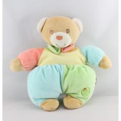 Doudou ours jaune bleu vert rouge BESTEVER