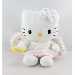 Doudou chat HELLO KITTY fée blanche rose SANRIO LICENSE