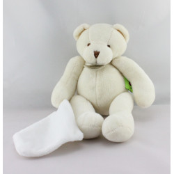 Doudou et compagnie ours blanc mouchoir TATOO