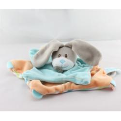 Doudou plat étoile lapin bleu orange rayé BABY NAT