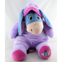 Grande peluche Bourriquet en pyjama mauve violet Disney
