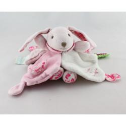 Doudou et compagnie plat lapin rose tendresse TATOO