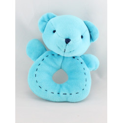 Doudou hochet ours bleu CADES