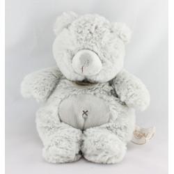 Doudou ours gris Tout doux BABY NAT