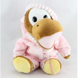 Doudou peluche Dinosaure pyjama rose Mercredi CORA