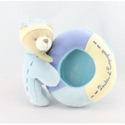 Doudou et compagnie cadre photo ours Léo bleu