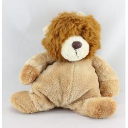 Doudou lion beige marron Le grand Parc du Puy du Fou