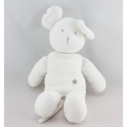 Doudou souris blanche étoile PETIT BATEAU