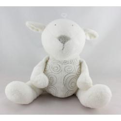 Doudou musical mouton agneau blanc OBAIBI