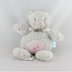 Doudou musical ours gris rose BABY NAT