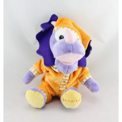Doudou peluche Dinosaure violet pyjama orange vendredi CORA