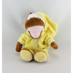 Doudou peluche Dinosaure pyjama jaune jeudi CORA
