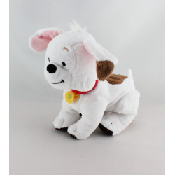 Doudou chien blanc marron Buster le chien de Winnie DISNEY