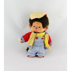 Ancienne Peluche Kiki salopette rayé casquette AJENA SEKIGUCHI