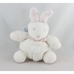 Doudou Lapin rose blanc Moulin Roty