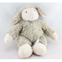 Doudou musical mouton beige marron Oscar J-LINE