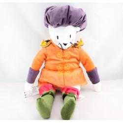 Doudou chat botté orange prune IKEA