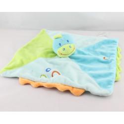 Doudou  plat dragon dinosaure bleu vert JOGYSTAR KIABI