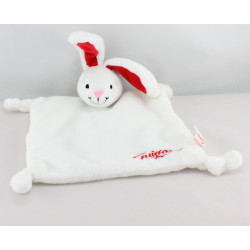 Doudou plat lapin blanc rouge GUIGOZ 2