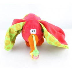Doudou eveil éléphant rouge PLAYGRO