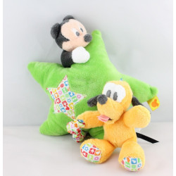 Doudou musical étoile verte Mickey et Pluto DISNEY BABY