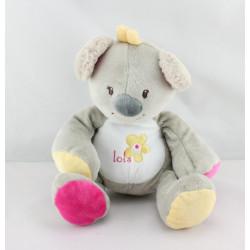 Doudou koala beige rose jaune Arthur et Lola BEBISOL