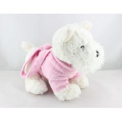Doudou chien blanc pull rose sac GIPSY