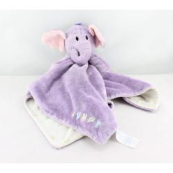 Doudou plat couverture mauve Lumpy l'éléphant Disney Baby