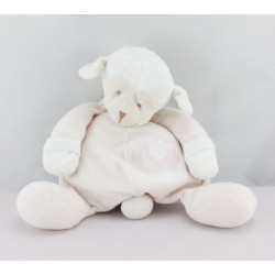 Doudou musical mouton rose blanc BOUTCHOU