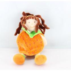 Doudou et compagnie lutin fille fruit ananas orange
