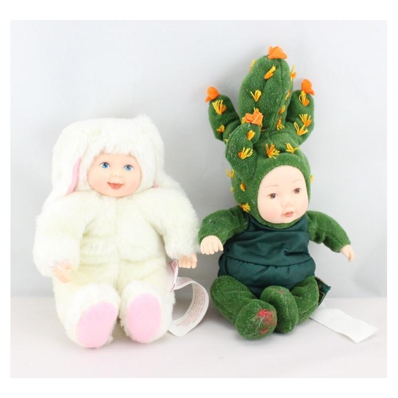 Mini Poupée Lapin blanc et Cactus ANNE GEDDES