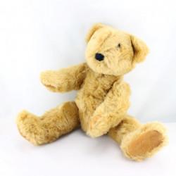 Peluche ours marron bras et jambes articulés  42 cm