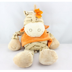 Doudou zébre Zamba beige orange NOUKIE'S